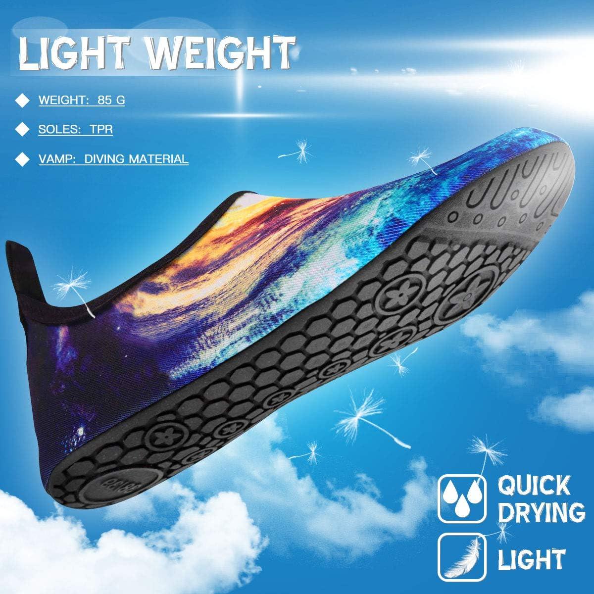 Aquaschuhe Schwimmschuhe Strandschuhe Surfschuhe f/ür Herren Damen Slip On Breathable Wasserschuhe Jungen rutschfeste Yoga Beach Shoes