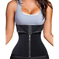 Chumian 3 Clip&1 Zip 6 Steel Boned Waist Trainer Corset Sport Workout Body Shaper Tummy Control