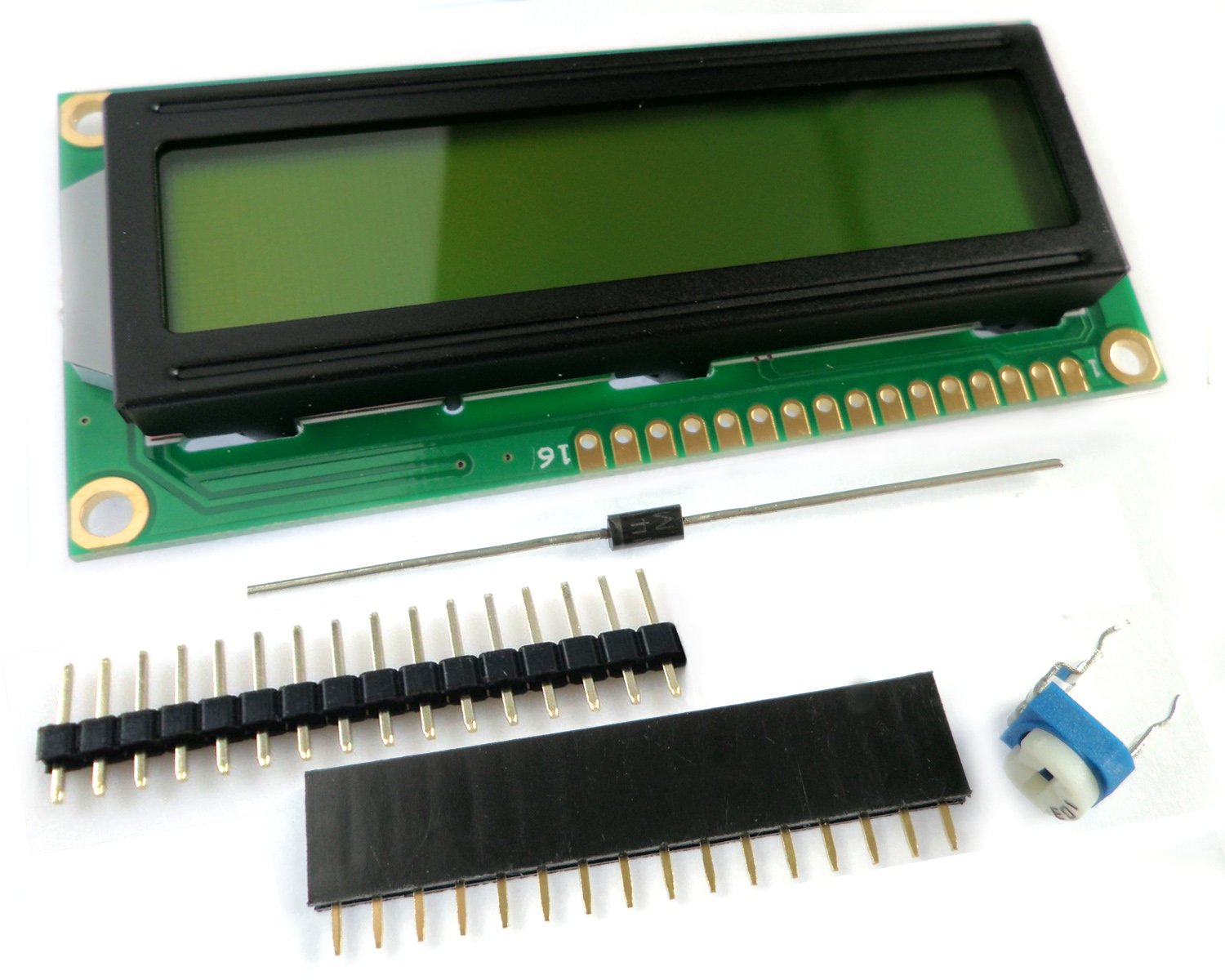 microtivity IM162 LCD Module 1602, Black on Green with Backlight by microtivity (Image #2)