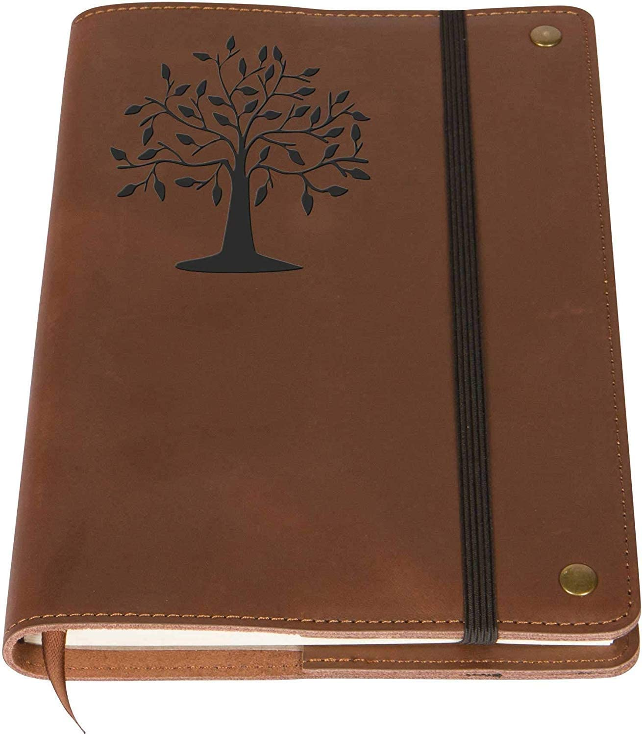 The Tree Of Life - Real Leather Journal Notebook, 6 x 9 Inch, 200 Lined Pages Travel Personal Diary, Quality College Ruled Notebooks and Journals To Write In for Men and Women from The Amazing Office