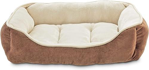 Animaze Brown Bolster Dog Bed