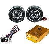 Radio portatil para motocicleta con 2 altavoces con conexión Usb,Mp3,Sd control inalabrico, alarma y es a prueba de agua