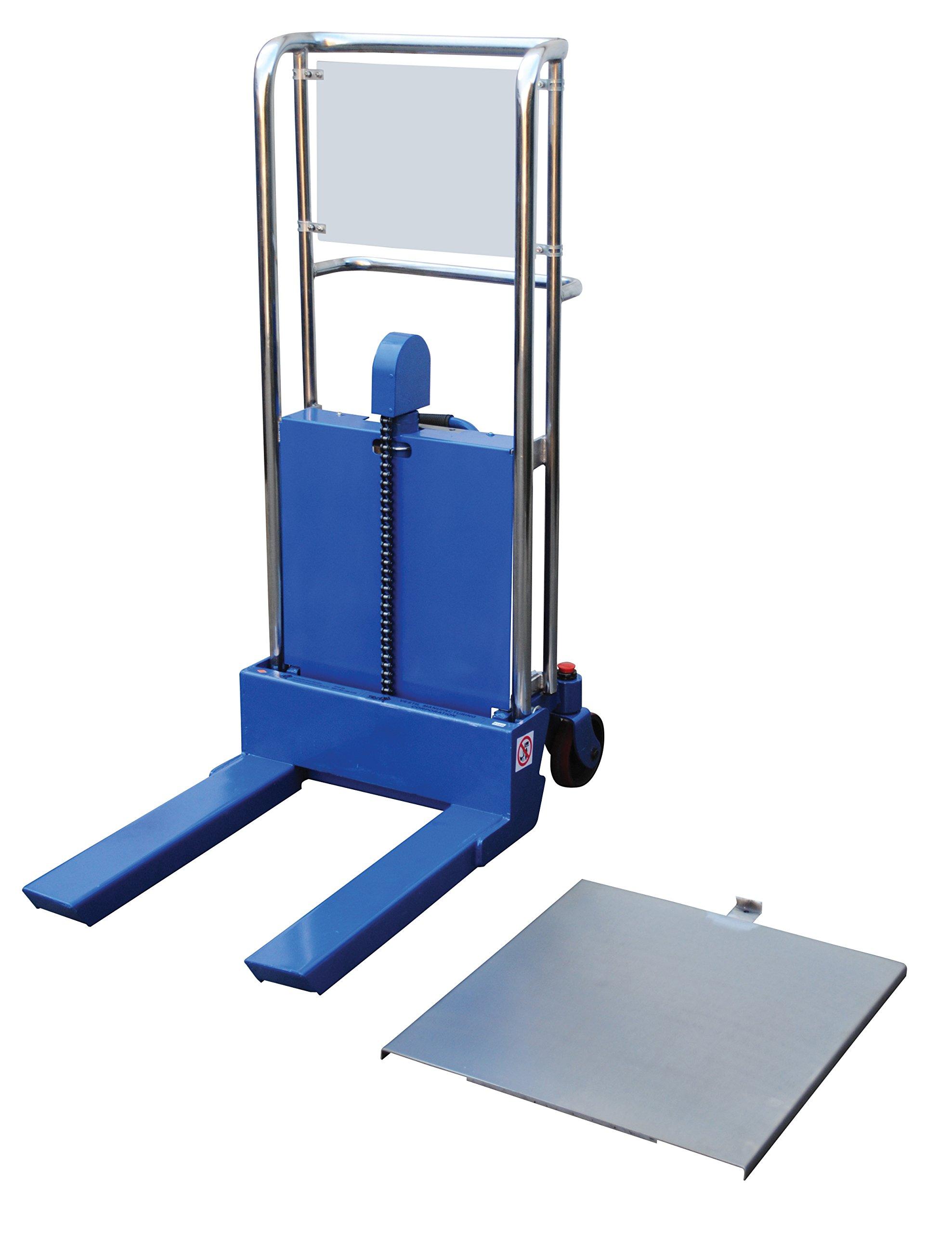 Vestil HYD-5 Portable Foot Pump Hefti-Lift, 41'' x 54'', Blue