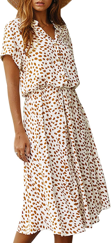 Vestido Mujer Bohemio Largo Verano Playa Fiesta Floral//Polka Dot Maxi Vestidos C/óctel Falda Larga con Cintur/ón