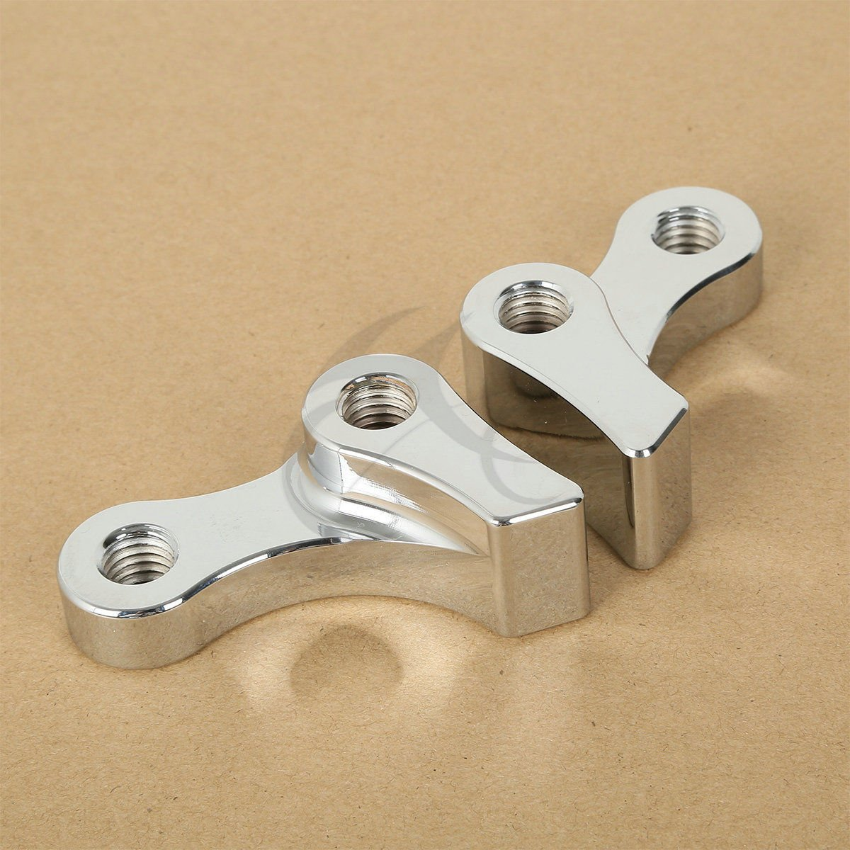 Wide Glide 95-05 XFMT Chrome 1 INCH Adjustable Lowering KIT Compatible with Harley Dyna Super