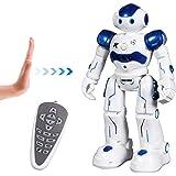 SGILE Kids Remote Control Robot Toy - Programmable Interactive Gesture Sensing Robot Kit, Dancing Walking Singing Smart Robotics - RC LED Combat Fun Robotic Birthday Present for Kids, Blue