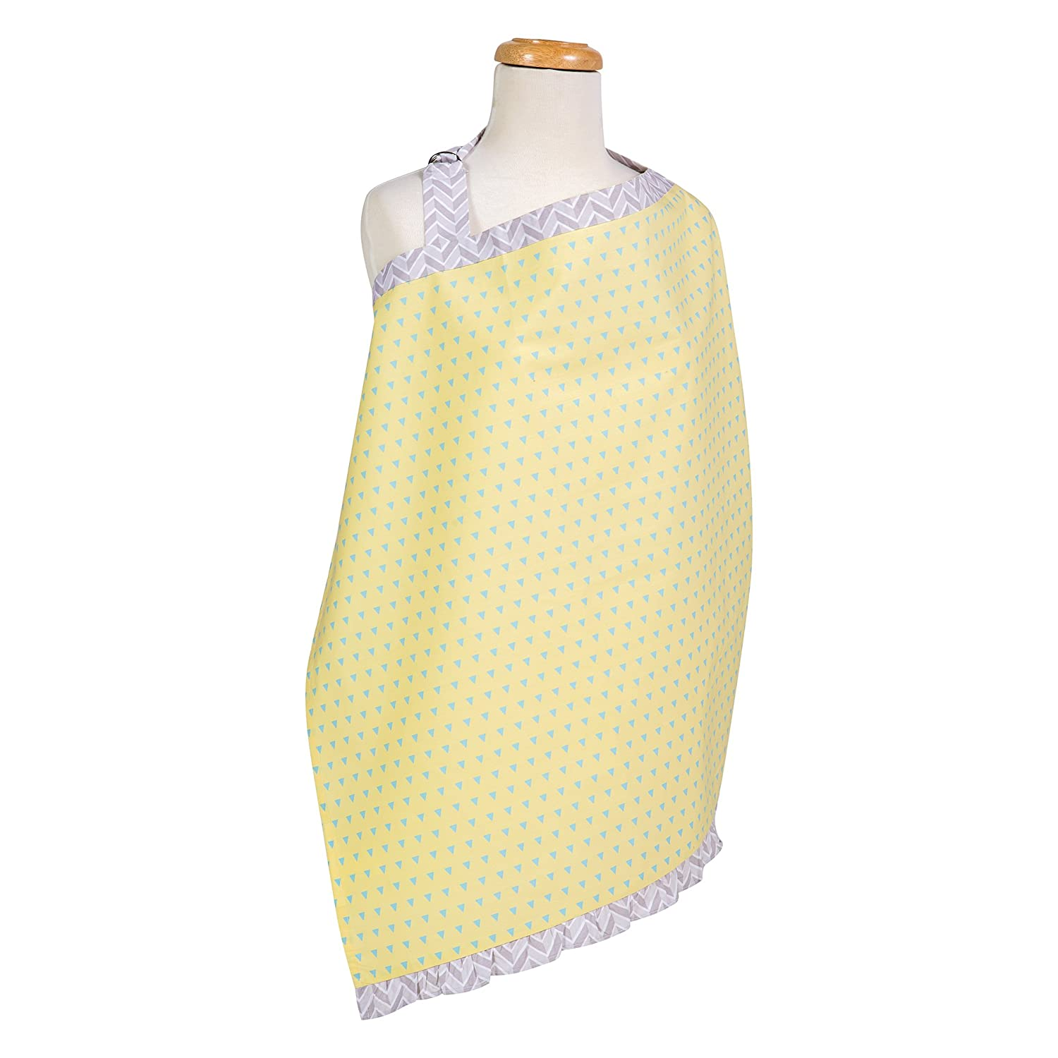 Trend Lab 102236 Triangles Yellow and Aqua Nursing Cover   B01BQLQBTA