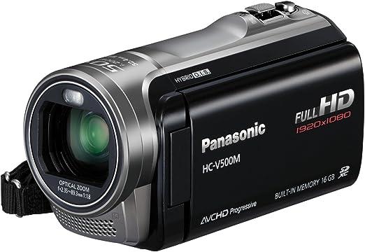 , 38 x, 2500 x, 2.35-89.3 mm Mos, 1.5 MP, 1//0.228 mm Panasonic HC-V500 1//5.8 Plata Videoc/ámara