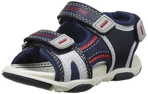 Geox B Kaytan a, Zapatillas para Bebés, Azul (Navy/Grey), 21 EU