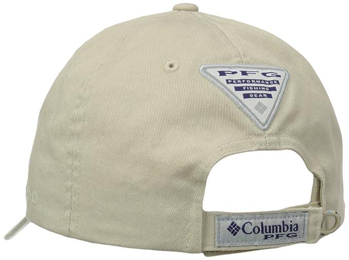 Columbia Unisex s PFG Bonehead Ball Cap-Vivid Blue White 69d6d8287f94