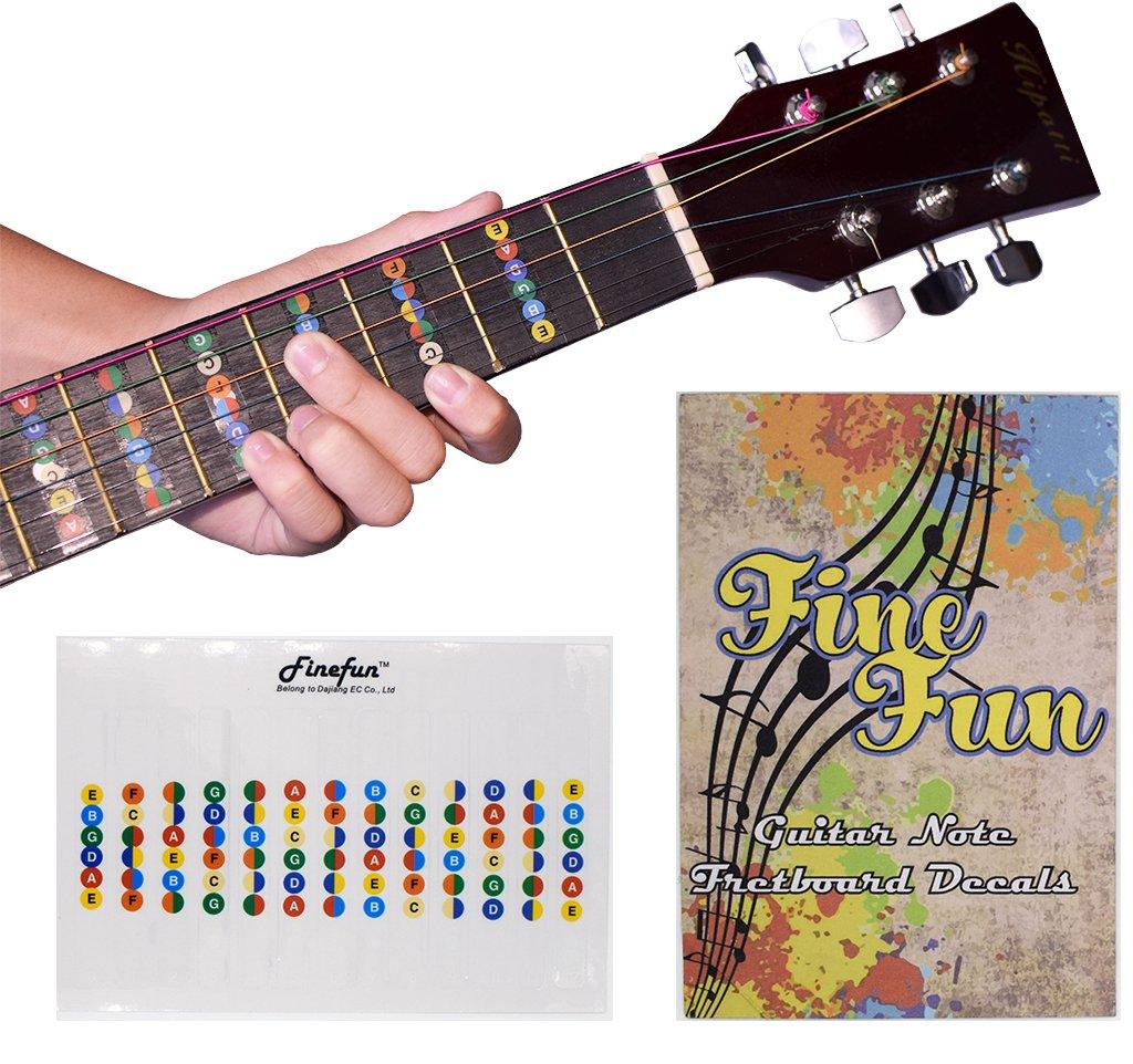 Amazon Guitar Fretboard Note Decals Fingerboard Frets Map