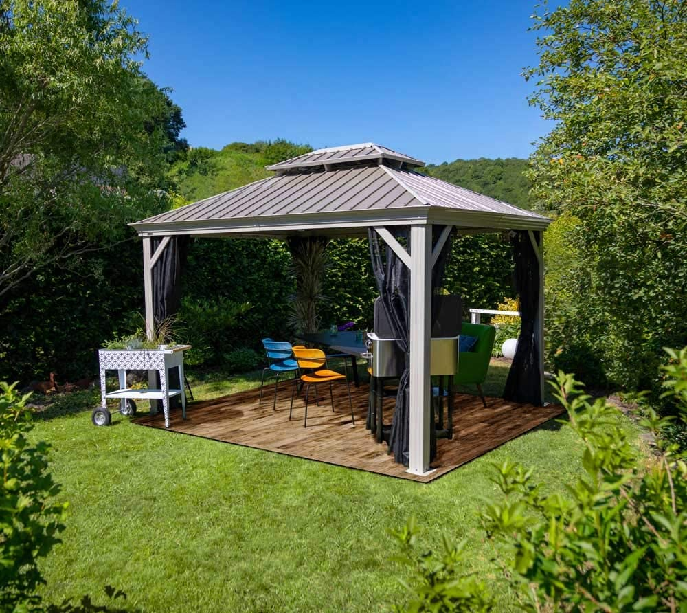 Sojag Messina - Carpa de acero para jardín (3 x 4 m, cubierta de ...