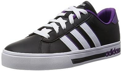 adidas Daily Team W, Zapatillas de Deporte para Mujer, Negro / Blanco / Morado (Negbas / Ftwbla / Púrtri), 40 2/3 EU: Amazon.es: Zapatos y complementos