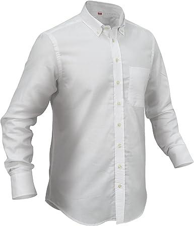 Camisa de Manga Larga para Hombre de Capitán Bronson, 100% algodón: Amazon.es: Ropa y accesorios