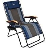Timber Ridge Zero Gravity Chair Oversized Recliner Padded Folding Patio Lounge Chair 350lbs Capacity Adjustable Lawn Chair wi