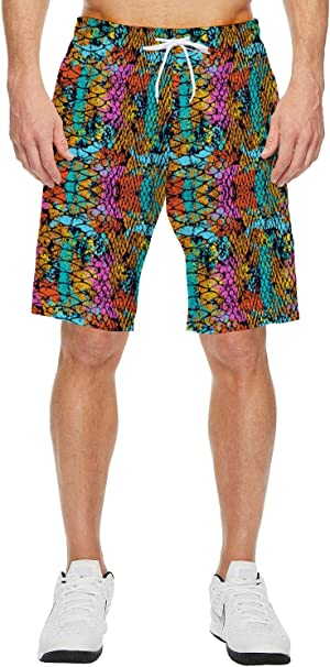 Prime Leader Mens Beach Shorts Summer Casual Quick Dry Short Pants Stretch Swimming Trunks with Pocket