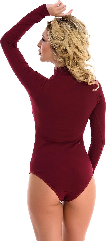 Magi Body de manga larga para mujer con cuello medio y mangas largas varios colores y tama/ños