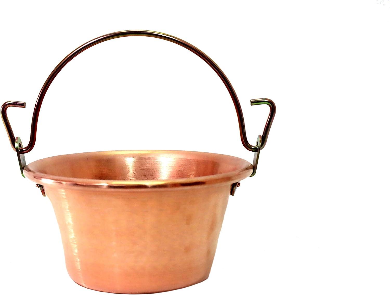 CERIANI Casserole en cuivre pour polenta manche en laiton diam/ètre 24 cm