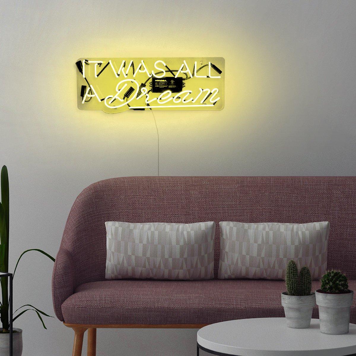 Amazon.com: It Was All a Dream\' Contemporary Fashion Neon Sign Art ...
