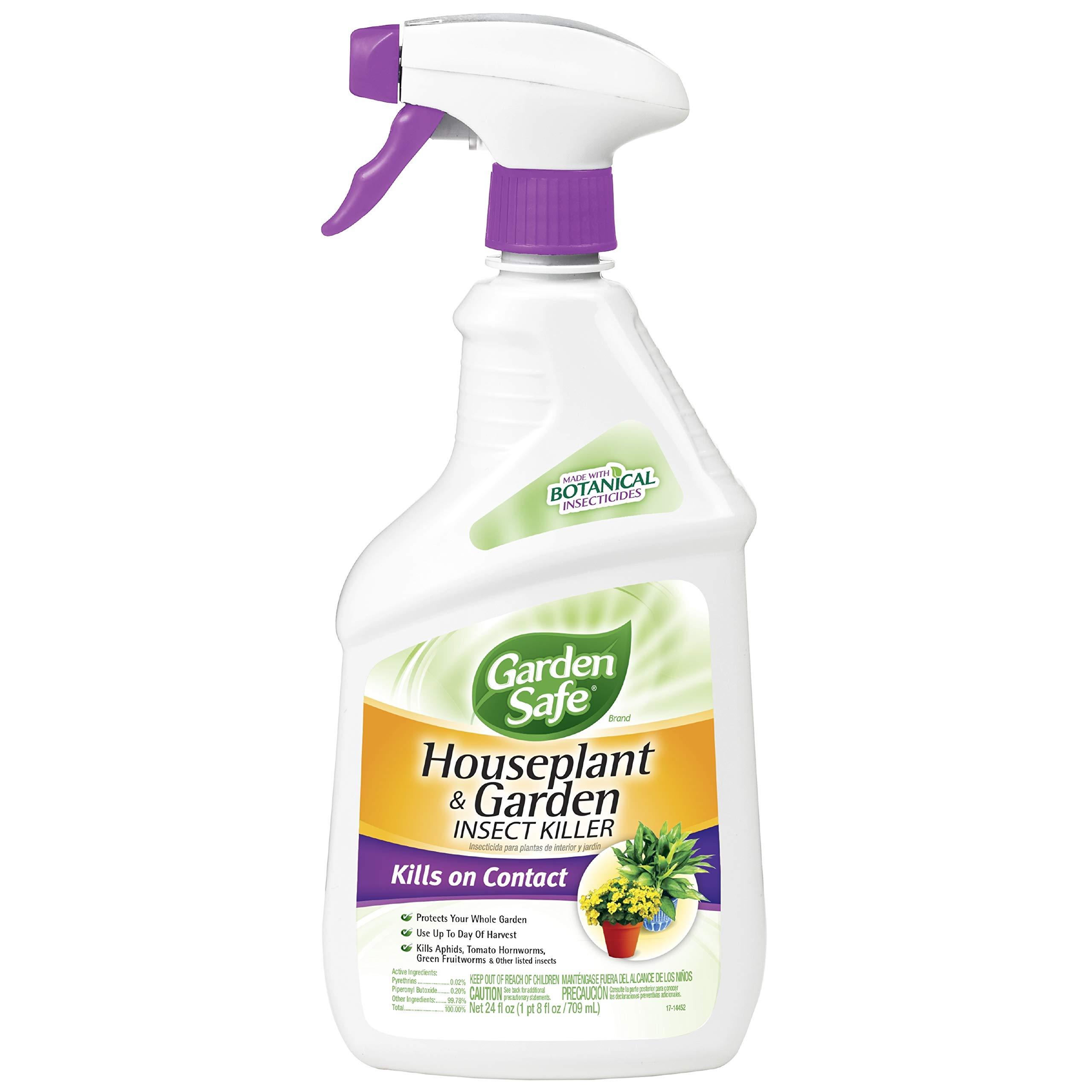 Garden Safe Brand Houseplant & Garden Insect Killer, Ready-to-Use, 24-Ounce, 4-Pack by Garden Safe