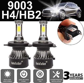 2x 80W 6000K LED Headlight 4-Side COB Auto Fog Driving LED Lamps Ultra White.
