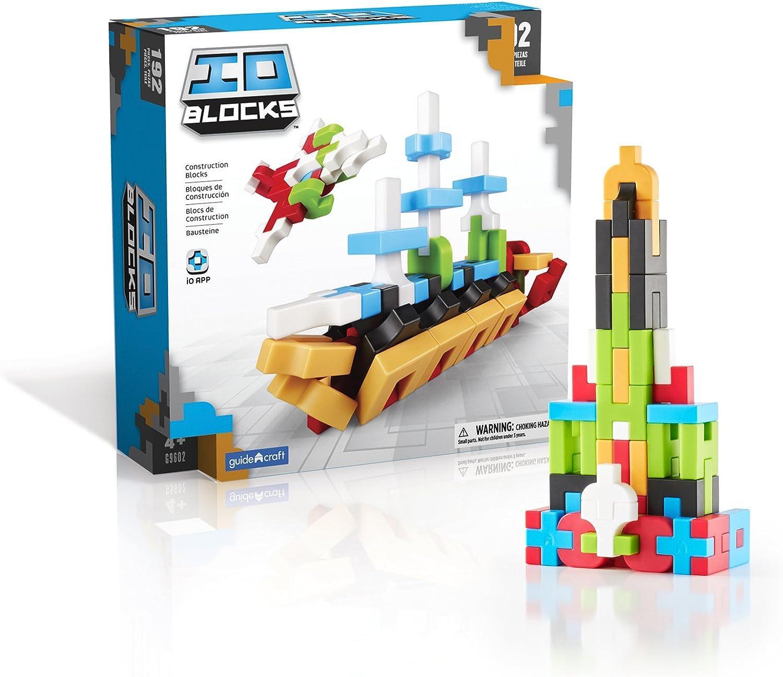 Guidecraft Io Blocks Digital Puzzle Building Stem Educational Construction Toy 192 - Piece Set