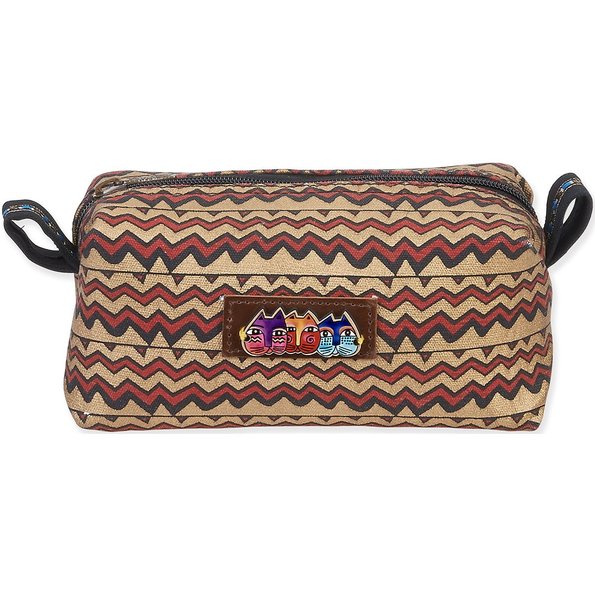 Laurel Burch Cosmetic Signature Collection/Zig Zags Pouch, 7.5-Inch x 4-Inch x 4-Inch free shipping