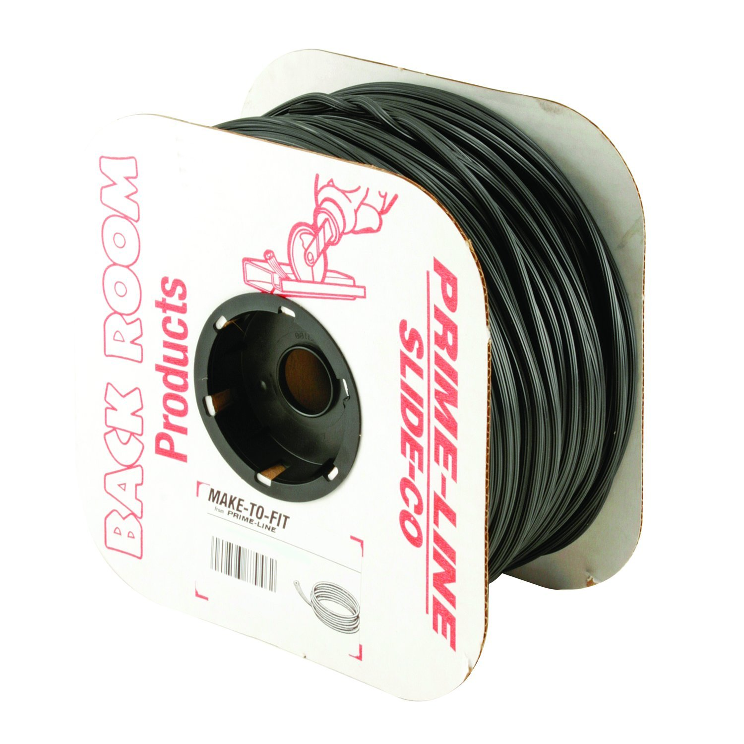 1 Roll of 500 ft. Prime-Line MP7580 Screen Retainer Spline.175 Dia Black Vinyl