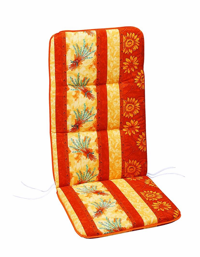Best 05200666 Sesselauflage hoch 120 x 50 x 6 cm, Dessin 0666