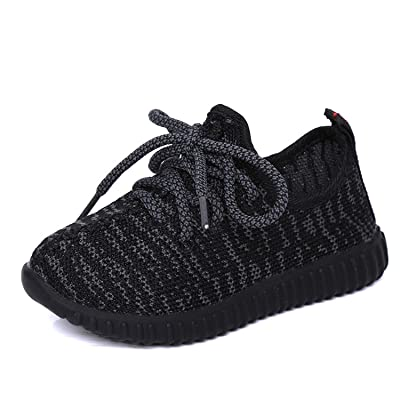 AIGOROSE Boy's and Girls' Casual Breathable Lace-up Running Shoes Sneakers(Toddler/Little Kid/Big Kid)