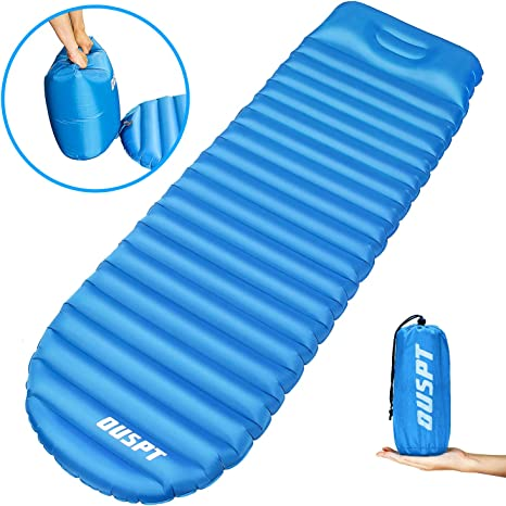 FUNDANGO Sleeping Pads Self-Inflating Lightweight 2 Inch Thick Inflatable Camping Mattress Durable Compact Comfort Airbed with Carry Bag Portable Waterproof for Backpacking Hiking