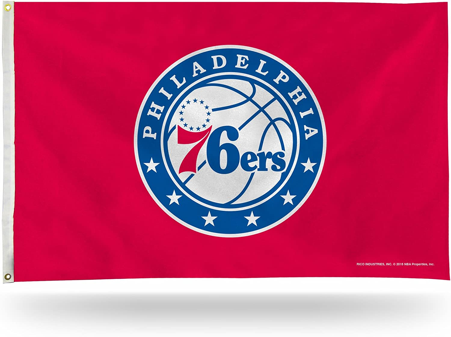 Rico Industries NBA 3-Foot by 5-Foot Single Sided Banner Flag with Grommets