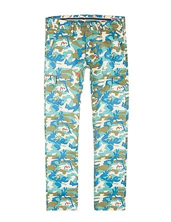 8af80f4e6386 EVISU EVG CAMO PRINTED COTTON PANTS