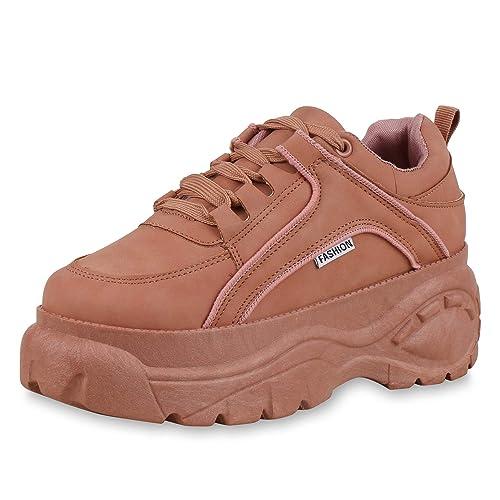 Damen Plateau Sneaker Vita Profilsohle Keilabsatz Mit Scarpe yN0PvOwm8n