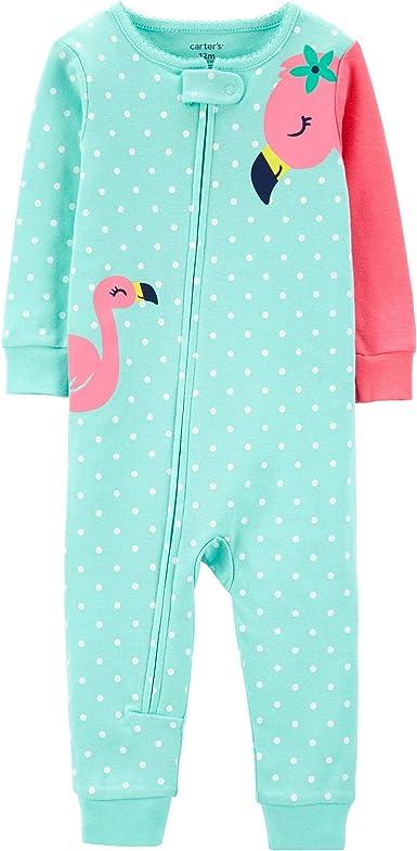 Carters Pijama de algodón sin pies para bebé niña de 1 pieza con diseño de flamenco - Rosa - 24 meses: Amazon.es: Ropa y accesorios