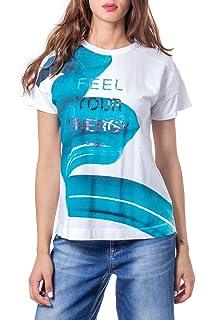Desigual Sylvia Damen T-Shirt Shirt mit Wende Pailletten  I Love you /& Herz  Top
