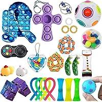 AM ANNA 26 Pack Sensory Fidget Toys Set, Fidget Pack, Fidget Toy for Adults and Kids, Push Pop Bubble, Figetget Toys…