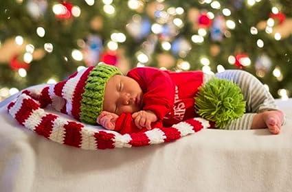 Amazon.com: eyourhappy Elfos de Navidad verde rojo ganchillo ...