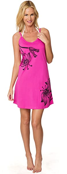 5072b0ced38 INGEAR Printed Casual Spaghetti Strap Dress Beachwear Sundress Cover Up  (Small