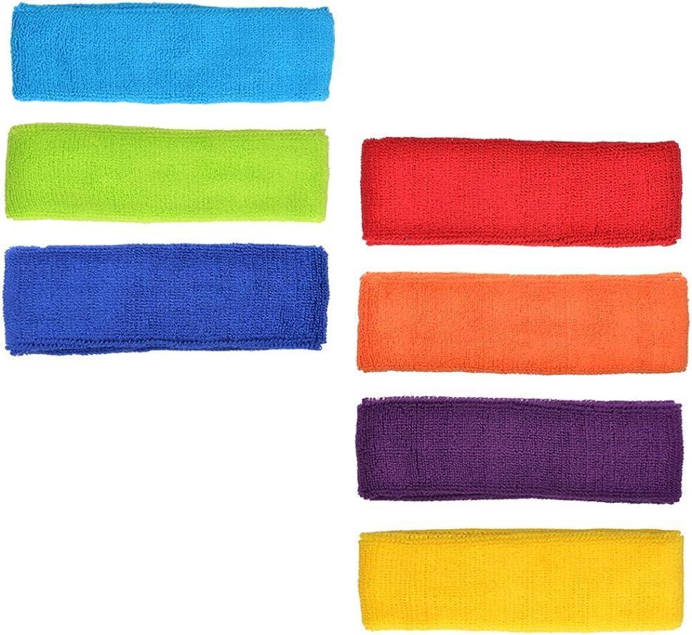 Cosmos Cotton Sports Basketball Headband/Sweatband Head Sweat Band/Brace (Pack of 7) : Clothing