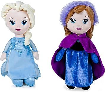 Muñecas de peluche Frozen Elsa y Anna. Pack de 2 peluches. 25 cm ...