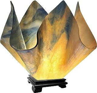 product image for Jezebel Signature VALA-FP16-STR Flame Glass Vase Lamp, Large, Strawflower