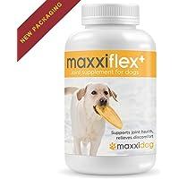 maxxidog - maxxiflex+ Gelenk-Ergänzungsfutter für Hunde - Fortschrittliche Formel - Glucosamin HCL, Chondroitin-Sulfat, MSM, Hyaluronsäure, Teufelskralle, Bromelain, Gelbwurz - Alle Rassen Und Größen - 120 Hochwertige Kaubare Tabletten