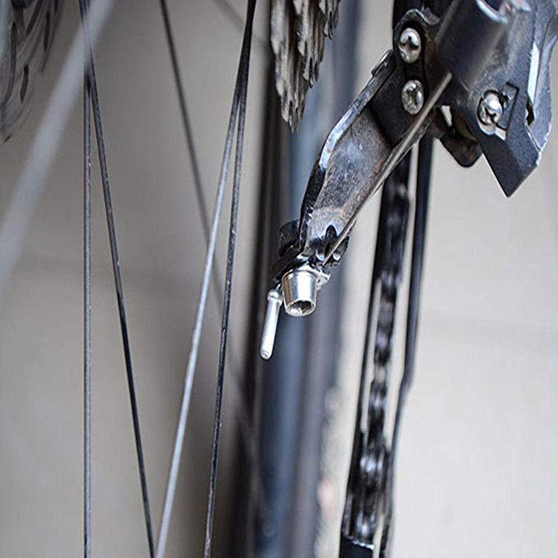 Tapas De Cable De Freno cable de freno de bicicleta de monta/ña Terminales cable Bicicleta 100 Piezas Tapa de Cable de Freno de Bicicleta de Monta/ña de Aleaci/ón de Plata Cierre de Puntas de Extremo