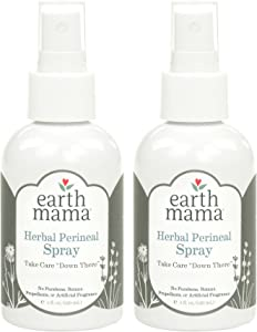 Herbal Perineal Spray by Earth Mama | Safe for Pregnancy and Postpartum, Natural Cooling Spray For After Birth, Benzocaine and Butane-Free 4-Fluid Ounce (2-Pack)