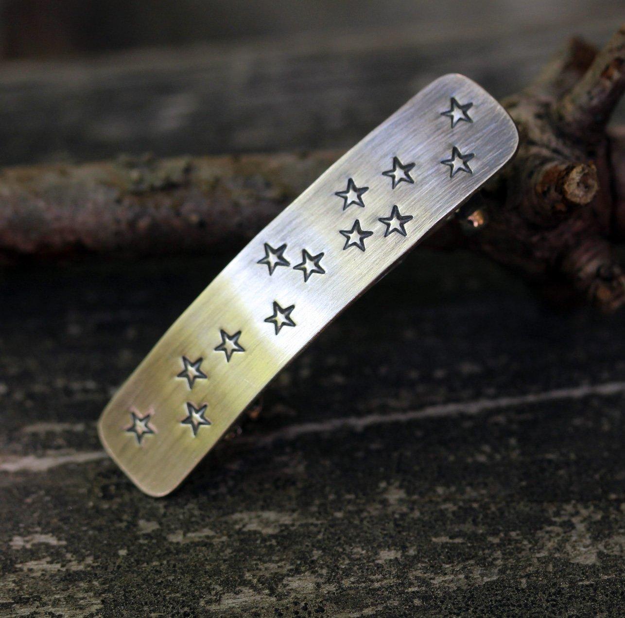 Sterling silver star barrette SMALL