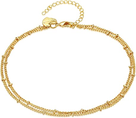 Popular Gold Plated Anklet for Beach Unique Ankles Bracelets Chain Foot JewelryR