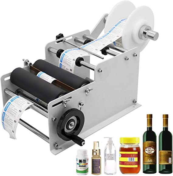 Hanchen Etiquetadora de Botellas Manual Máquina de Etiquetado de ...