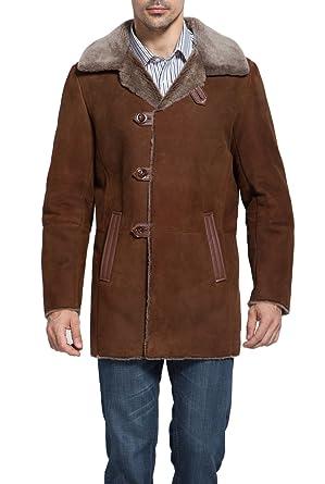 BGSD Men&39s &quotHoward&quot Spanish Merino Shearling Coat at Amazon Men&39s