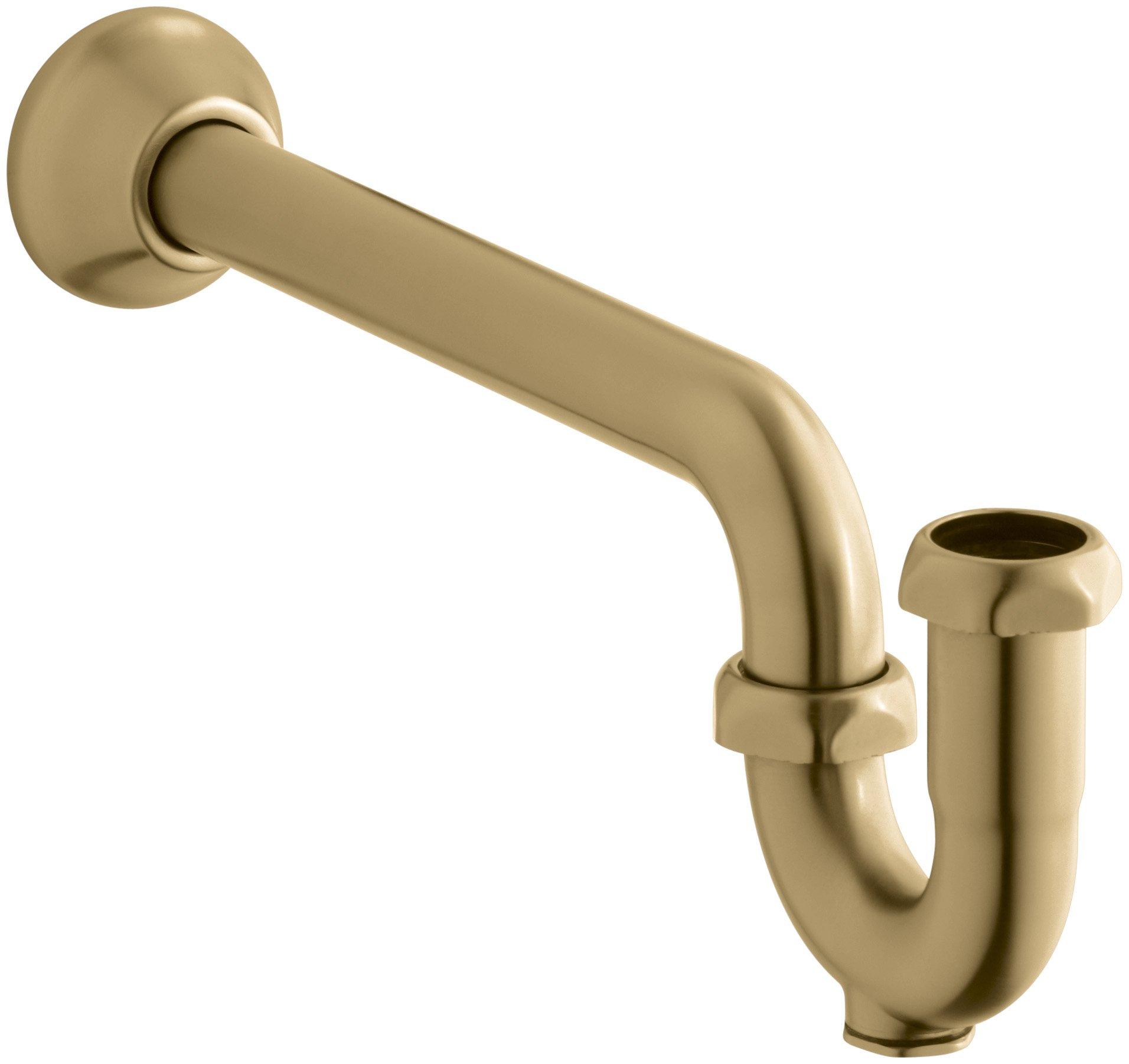 Kohler K-9018-BGD P-Trap with Tubing Outlet, 1-1/4'' X 1-1/4'', Vibrant Moderne Brushed Gold